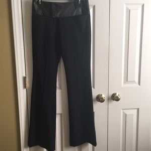 Black pants with leather waistband